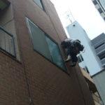 無足場で外壁調査