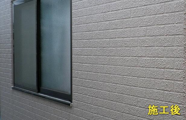 外壁クラック補修施工後2
