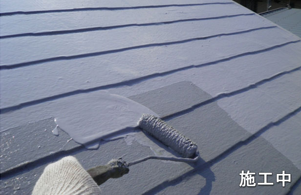 環境対応型屋根用防水材塗布