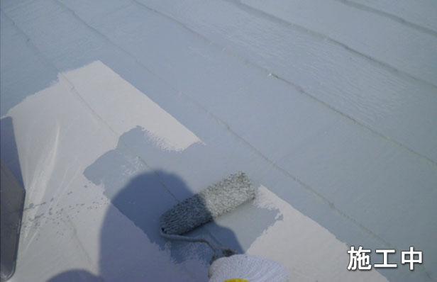 環境対応型高耐久高反射タイプトップコート塗布