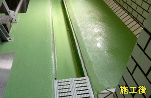 厨房塗り床防水施工後1