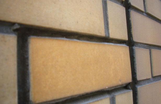 チェアゴンドラによる外壁調査タイル状態1