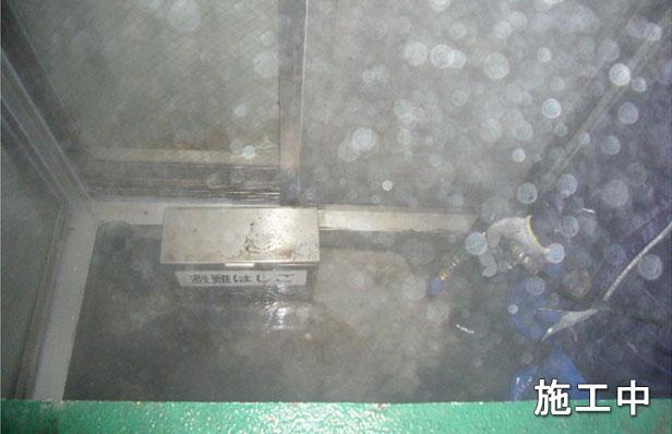 マンションバルコニー防水高圧洗浄