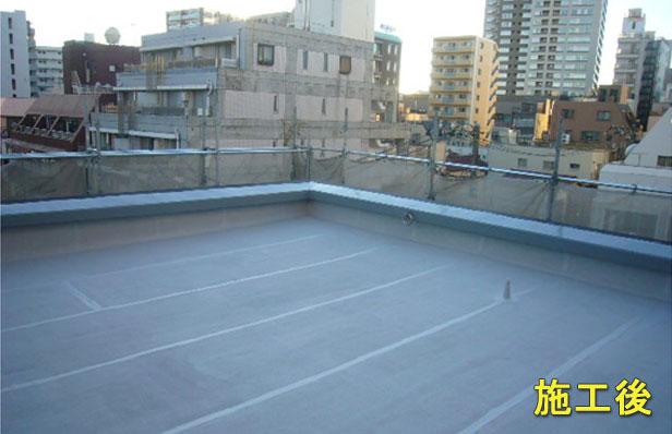 品川区マンション屋上防水工事完了