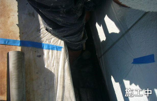 品川区バルコニー防水工事改修ドレンを取り付け