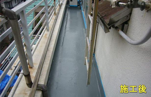 品川区バルコニー防水工事施工完了