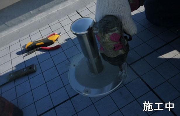 大田区Iビル防水工事脱気筒取り付け