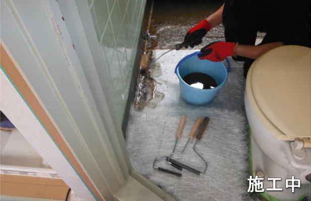 目黒区アパート浴室防水ガラスマット