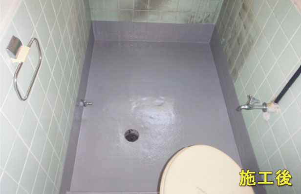 目黒区アパート浴室防水施工完了